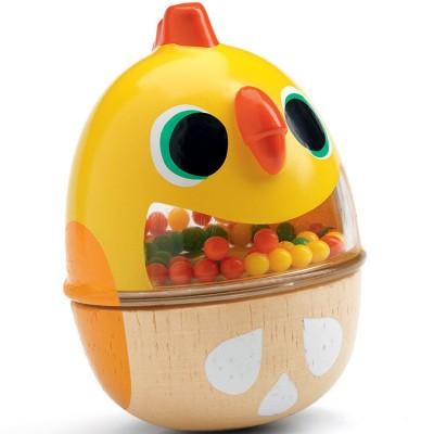 Hochet maracas poule Pitikot  par Djeco