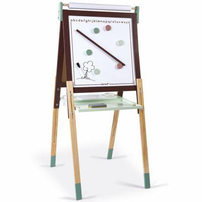 Tableau à dessin réglable taupe et vert Janod
