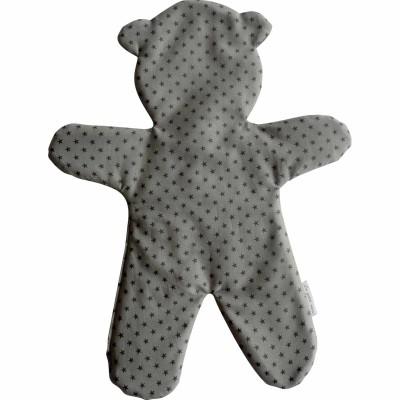Doudou plat ours Brume (33 cm) Le petit rien