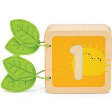 Livre en bois Je compte de 1 à 10 Petilou  par Le Toy Van