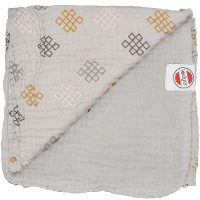Couverture bébé en coton Dreamer Xandu Mist gris (120 x 120 cm)  par Lodger
