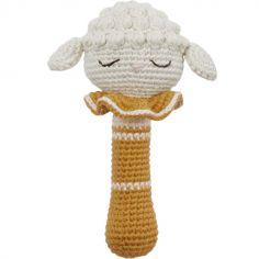 Hochet grelot agneau ocre