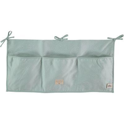 Vide-poches à suspendre Merlin vert d'eau White bubble  par Nobodinoz