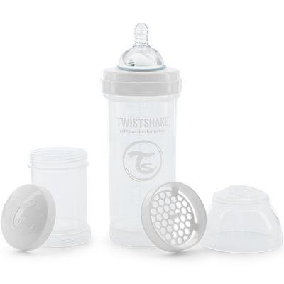 Biberon anti-colique blanc (260 ml)  par Twistshake