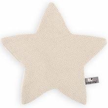 Doudou plat étoile Classic sable (30 x 30 cm)  par Baby's Only