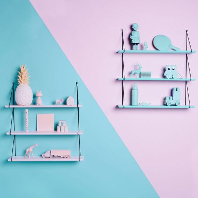 Etagere Babou 3 Plateaux Rose Clair Rose In April