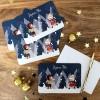 Carte de voeux A6 Joyeuses fêtes Neige  par Kanzilue