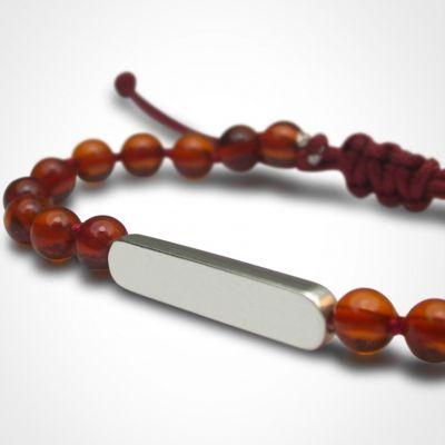 Bracelet Maracas perles (argent 925° et ambre)  par Mikado