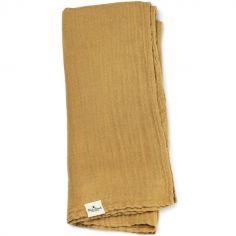 Lange en bambou et coton jaune Gold (80 x 80 cm)