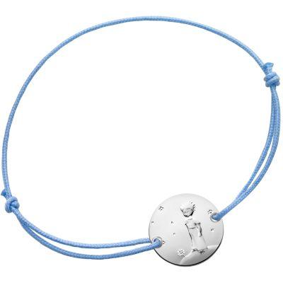 Bracelet Le Petit Prince sur sa planète cordon bleu (argent 950°)  par Monnaie de Paris