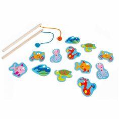 Jeu de pêche aimanté Poissons amusants (12 pièces)