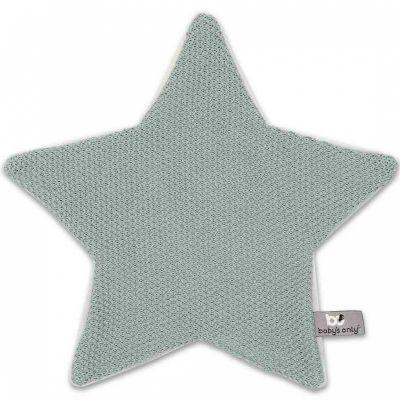 Doudou plat étoile Classic gris vert (30 x 30 cm) Baby's Only