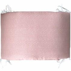 Tour de lit Etoiles rose (pour lits 60 x 120 cm et 70 x 140 cm)
