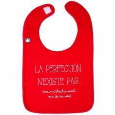 Bavoir La perfection n'existe pas rouge