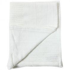 Couverture bébé légère en coton blanc (70 x 110 cm)