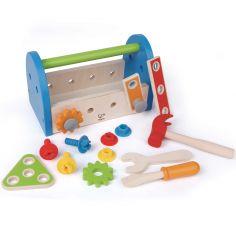 Boîte à outils en bois (17 pièces)