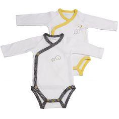 Lot de 2 bodies croisés manches longues Babyfan (3 mois : 60 cm)