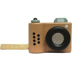 Appareil photo factice en bois