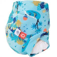 Maillot de bain couche avec absorbant Îles imaginaires (Taille S)