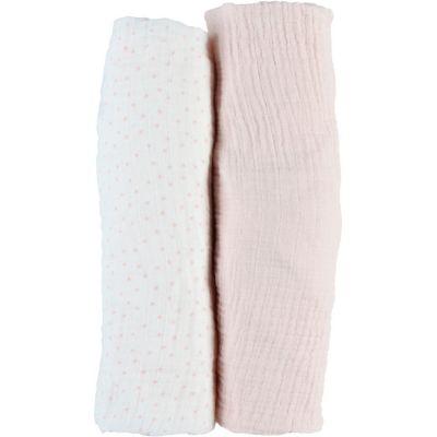 Lot de 2 draps housses en mousseline de coton rose clair (70 x 140 cm)  par Noukie's