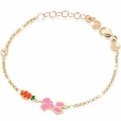Bracelet sur chaîne Primegioie Lucky Lapin (or jaune 375°)