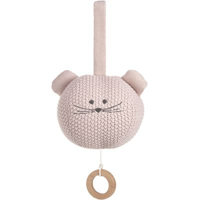 Peluche musicale à suspendre tricotée Little Chums souris  par Lässig