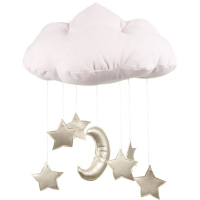 Mobile nuage rose poudré  par Cotton&Sweets