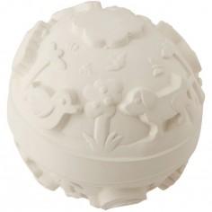 Balle monde latex d'hévéa blanche