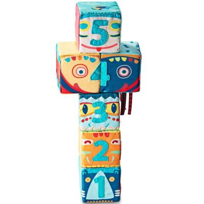 Set de 6 cubes totem  par Lilliputiens