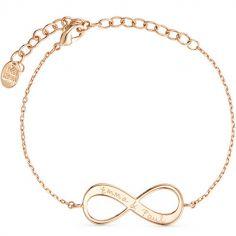 Bracelet Infinity sur chaîne personnalisable (plaqué or)