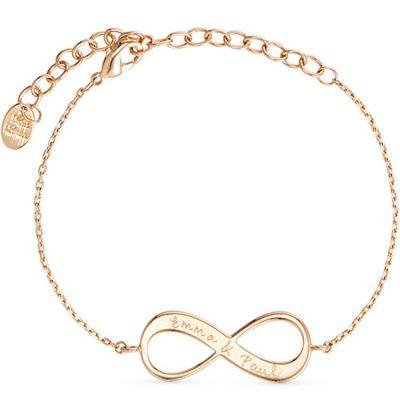 Bracelet Infinity sur chaîne personnalisable (plaqué or)  par Merci Maman
