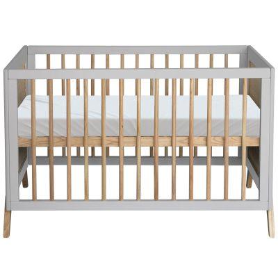 Pack duo lit bébé évolutif et côtés de lit Marelia gris lune (60 x 120 cm)  par Théo