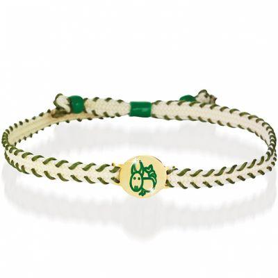 Bracelet cordon Primegioie Zodiaque Capricorne (or jaune 375°)  par leBebé