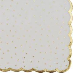 Lot de 16 serviettes en papier Pois dorés
