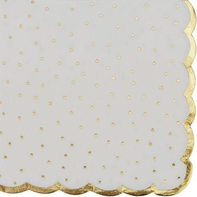 Lot de 16 serviettes en papier Pois dorés  par Arty Fêtes Factory
