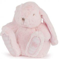 Peluche Augustin le lapin rose (25 cm)