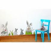 Sticker la famille lapin - Série-Golo