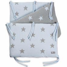 Tour de lit Star bleu ciel et gris (pour lit 60 x 120 cm)  par Baby's Only