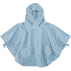 Poncho de bain Terry bleu denim shade (9-36 mois)