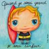 Tableau Quand je serai grand je serai surfeur (50 x 50 cm) - Isabelle Kessedjian