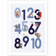Affiche A4 123 bleue