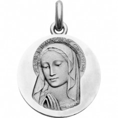 Médaille Vierge Immaculée  (or blanc 750°)