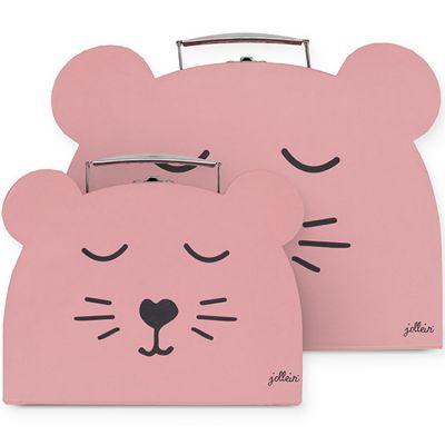 Lot de 2 valisettes décoratives panthère rose  par Jollein