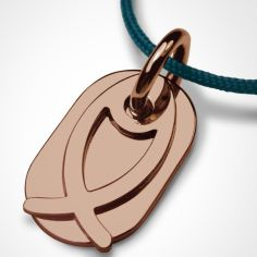 Collier cordon ''Ichthys'' (or rose 750°)