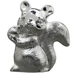 Tirelire Ecureuil (métal argenté)