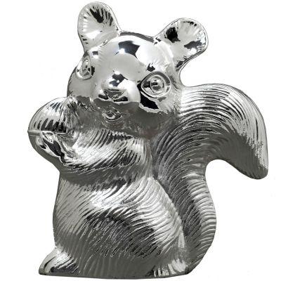 Tirelire Ecureuil (métal argenté)  par Daniel Crégut