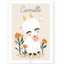 Affiche A3 Les Animignons la chèvre (personnalisable)  par Kanzilue