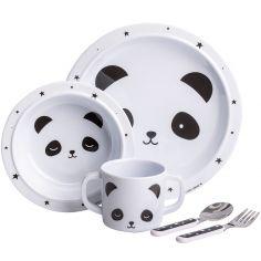 Coffret repas en mélamine panda (5 pièces)