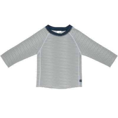 Tee-shirt anti-UV manches longues rayé col marine (18 mois)