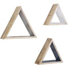 Ensemble de 3 étagères murales Triangle